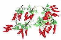 (Цена за 5шт) Перец декоративный Лето, пластик, овальная форма, цвет красный с зеленым хвостиком, украшение для открыток, Товары для HANDMADE