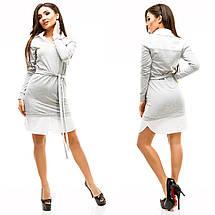 """Облегающее комбинированное платье """"EMILI"""" с длинным рукавом (6 цветов), фото 2"""