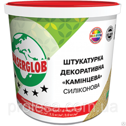 Декоративная силиконовая штукатурка «камешковая» Anserglob зерно 2,0мм (25кг)