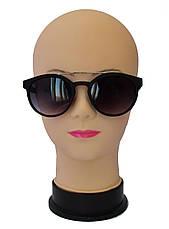 Матовые солнцезащитные очки унисекс черные, фото 2