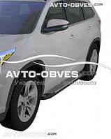 Защитные боковые подножки для Тойота Хайлендер 2017-… (в стиле БМВ Х5 Turkey)