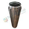 Труба-радиатор для дымохода d 160 мм; 0.8 мм; 1 метр из нержавейки AISI 304 - «Версия Люкс»
