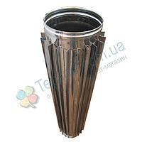 Труба-радиатор для дымохода d 160 мм; 0.8 мм; 1 метр из нержавейки AISI 304 - «Версия Люкс», фото 1