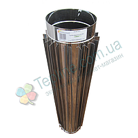 Труба-радиатор для дымохода d 110 мм; 1 мм; 1 метр из нержавейки AISI 304 - «Версия Люкс», фото 1