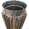 Труба-радиатор для дымохода d 125 мм; 0.8 мм; 50 см из нержавейки AISI 304 - «Версия Люкс»