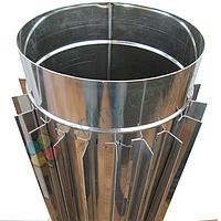 Труба-радиатор для дымохода d 125 мм; 0.8 мм; 50 см из нержавейки AISI 304 - «Версия Люкс», фото 1