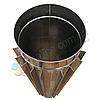 Труба-радиатор для дымохода d 130 мм; 1 мм; 50 см из нержавейки AISI 304 - «Версия Люкс»