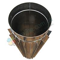 Труба-радиатор для дымохода d 130 мм; 1 мм; 50 см из нержавейки AISI 304 - «Версия Люкс», фото 1