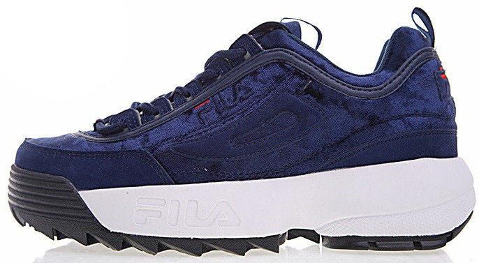 Женские кроссовки Fila Disruptor II (Фила Дисраптор 2) синие