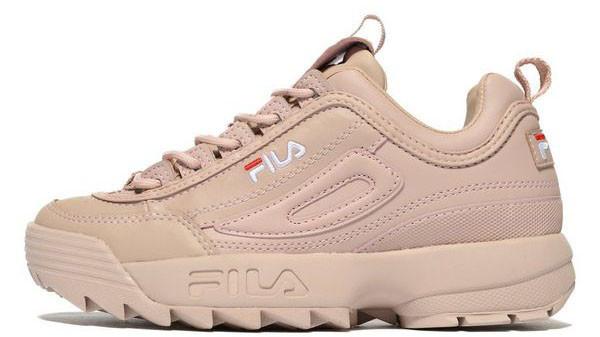 Женские кроссовки Fila Disruptor II (Фила Дисраптор 2) бежевые