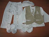 Детский нарядный набор для крещения мальчика  Турция