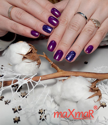 Гель-лаки maXmaR - фото дизайна ногтей - Праздничный маникюр