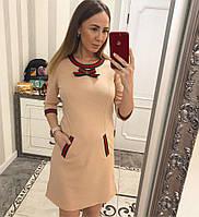 Стильное оригинальное платье с декором под Гуччи