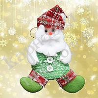 Подвеска мягкая Дед Мороз (зеленый)