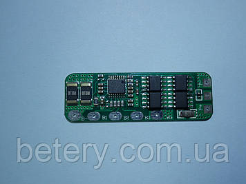 Плата захисту для складання з Li-Ion або Li-pol акумуляторів 4s 4А (max 8)