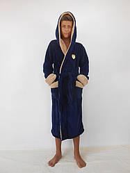 Подростковый махровый халат для мальчика