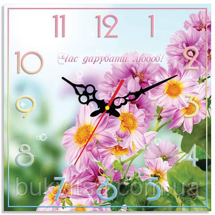 """Годинники настінні квадратні """"Час дарувати любов!"""", фото 2"""