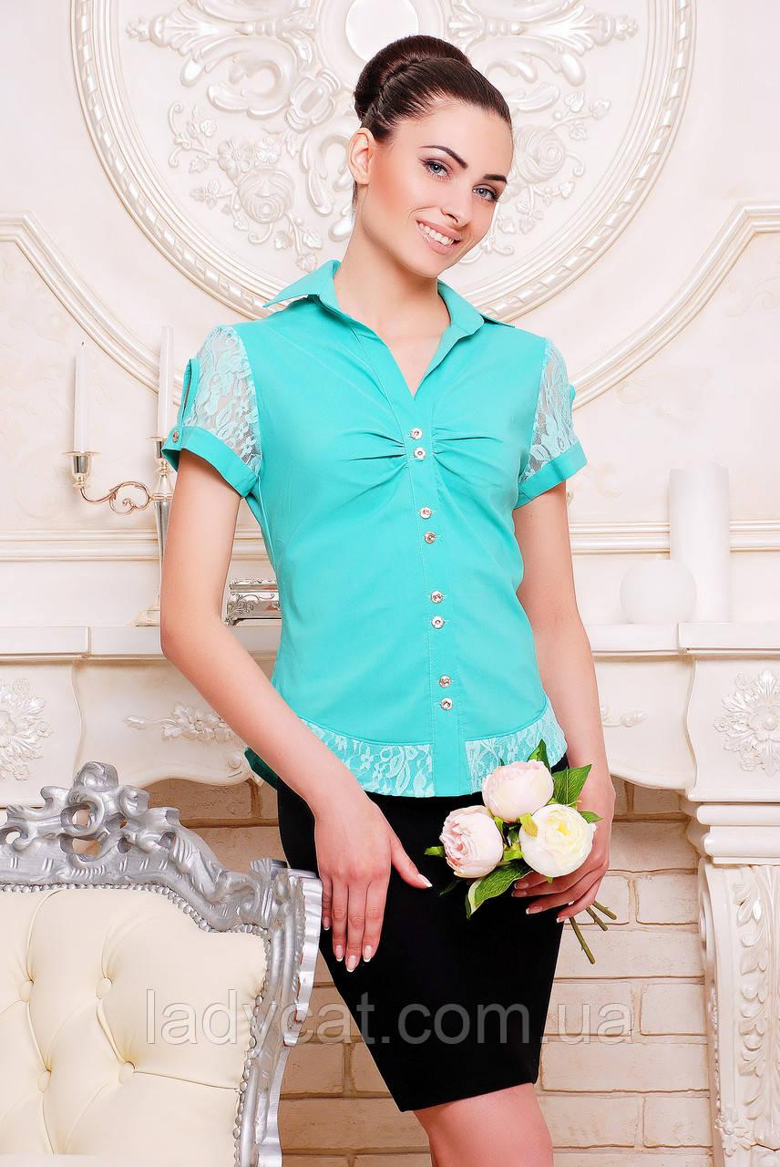 """Рубашка """"Пандора"""" мята"""