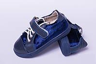Туфли детские на липучке из натуральной кожи от производителя модель ТД -10
