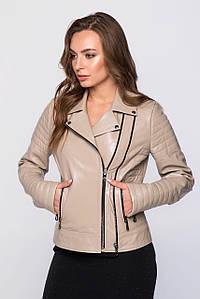 Женская куртка-косуха из натуральной кожи (7038 sk)