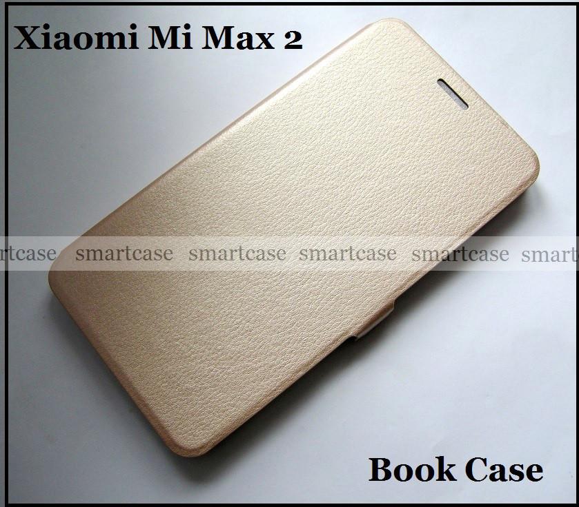 Красивый золотой чехол книжка Xiaomi Mi Max 2 с магнитной застежкой Book Case