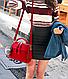 Сумка женская с ручкой через плечо Stylish bag с помпоном , фото 4