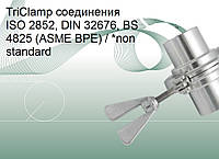 TriClamp соединения ISO 2852, DIN 32676, BS 4825 (ASME BPE) / *non standard