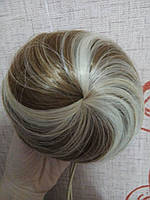 Накладная гулька, накладной пучок из волос, шиньон из синтетических волос, цвет №27Н613