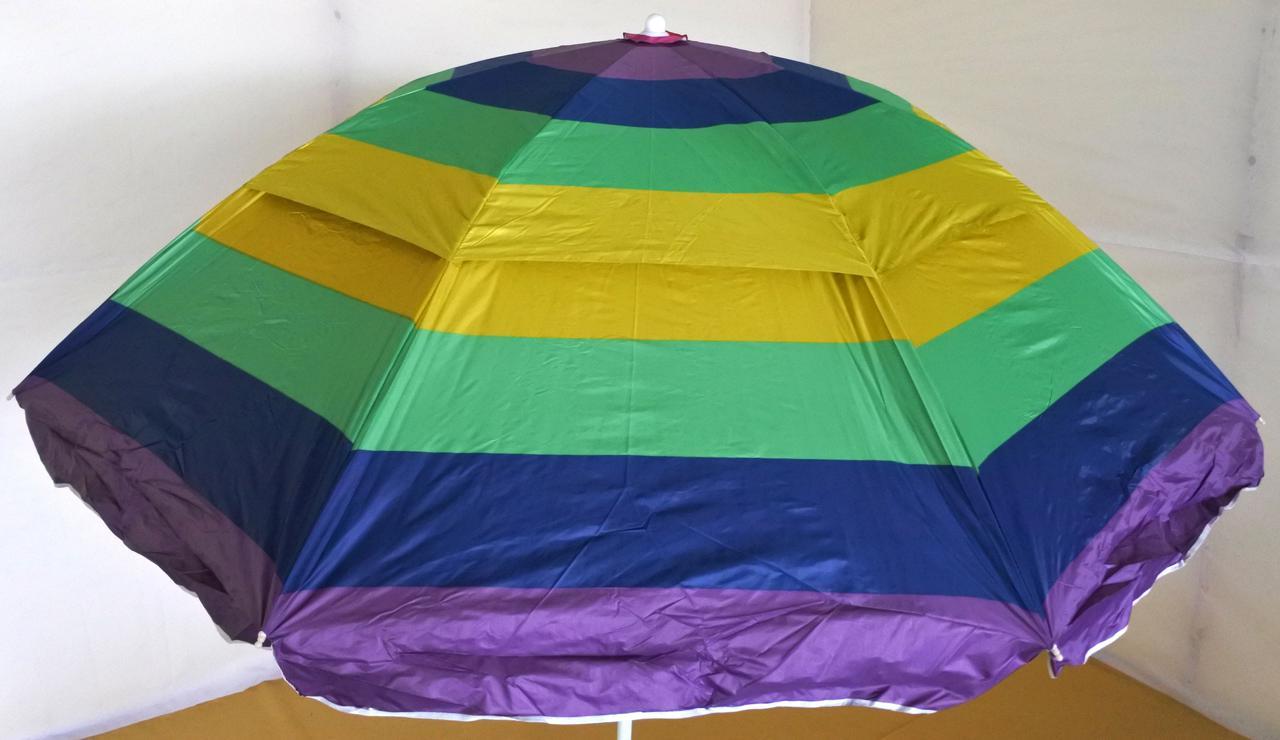 Зонт садовый, круглый, с клапаном и напылением, 2.3 м, мод-071W