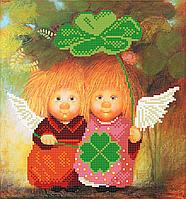 Схема вышивки для бисера Ангелы Счастье и Удача