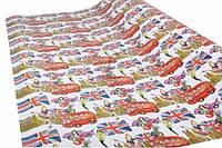 """(Цена за 10шт) Упаковочная бумага """"MARTA"""" для подарков, красная, длина 101см, ширина 73см, плотность 78г/м², Бумага для упаковки подарков, Подарочная"""