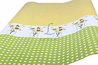 """(Цена за 10шт) Упаковочная бумага """"MARTA"""" для подарков, зеленая с желтым, длина 101см, ширина 73см, плотность 78г/м², Бумага для упаковки подарков,"""