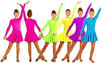 Платье рейтинговое с длинным рукавом 1167, 5 цветов: размер 122-164см