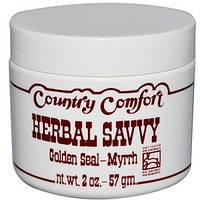 Country Comfort, Herbal Savvy, гидрастис и мирра, 2 унции (57 г)