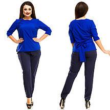 """Деловой женский брючный костюм """"ZION"""" с блузой (большие размеры), фото 2"""