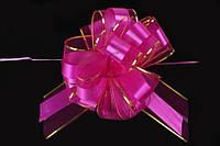 """Бант-затяжка """"Azalea"""" для упаковки подарков, розовый, ширина ленты 7см, Подарочный бант, Декоративный бант на подарок"""