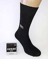 """Высокие качественные мужские носки """"Hakan"""". Турция. Лайкра. Черные."""