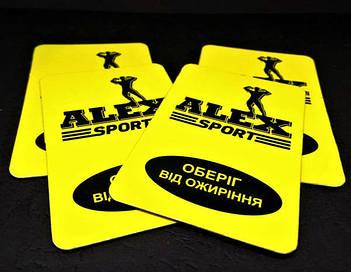 Рекламные магниты для фитнес-клуба. Размер 70х45 мм 1