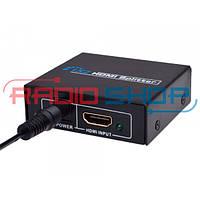 Сплитер 2port HDMI (1гн. HDMI- 2гн. HDMI), 1.3V, DC-5V