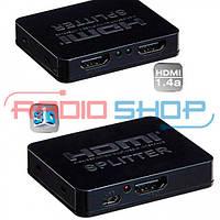 Сплиттер Full 3D 2port HDMI (1гн. HDMI- 2гн. HDMI), 1.4V