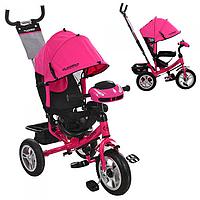 Трехколесный велосипед колясочного типа с фарой и ключом зажигания M 3115-3HA на надувных колесах