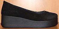 Туфли женские кожаные на платформе от производителя модель СТТ31, фото 1