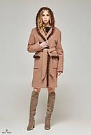 Стильное женское демисезонное пальто ПВ-49 удлиненное.