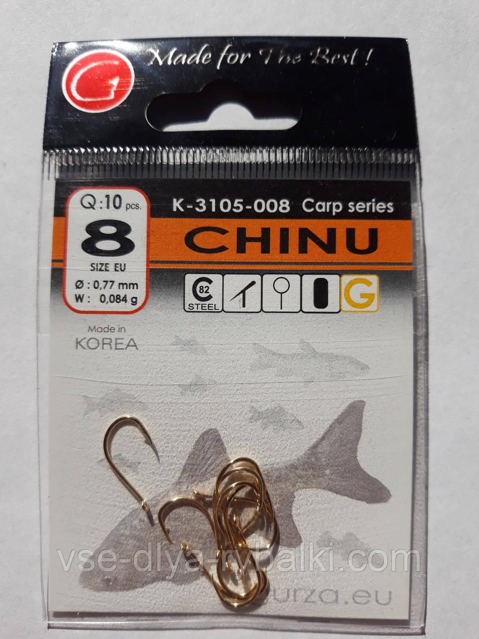 Крючки Gurza chinu gold № 8