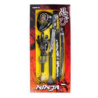 Набор ниндзя 333_57 (12шт) меч,кинжал,перчатка,сай,маска,булава на цеп,сюрикен,на листе,30_69_6см