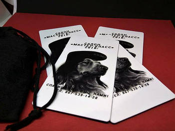Магнитные визитки для салона красоты. Размер 90х50 мм 3