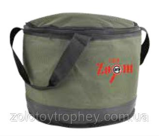 Матерчатое ведро с крышкой на молнии Collapsible Bait Bucket, insulated, 31x25cm