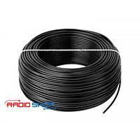 Провод монтажный медный LgY 1x0,75 H05V-K черный 100м