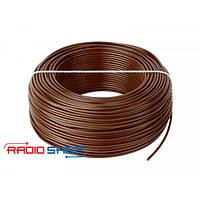 Провод монтажный медный LgY 1x0,75 H05V-K коричневый 100м