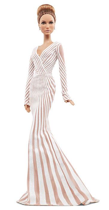 Коллекционная кукла Барби Дженнифер Лопес Красная Ковровая Дорож (Jennifer Lopez Red Carpet Doll) X8287 Mattel